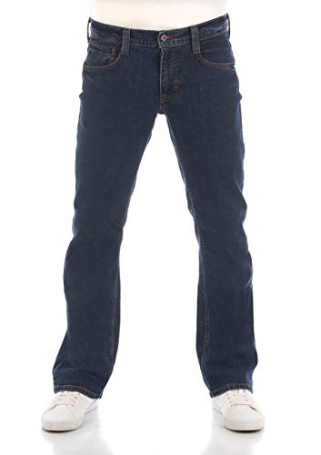 MUSTANG Oregon Bootcut - Pantalones vaqueros para hombre, elásticos, algodón, color azul y negro, W30, W31, W32, W33, W34, W36, W38, W40, Azul (Ddunkelblau 980), 31W x 32L