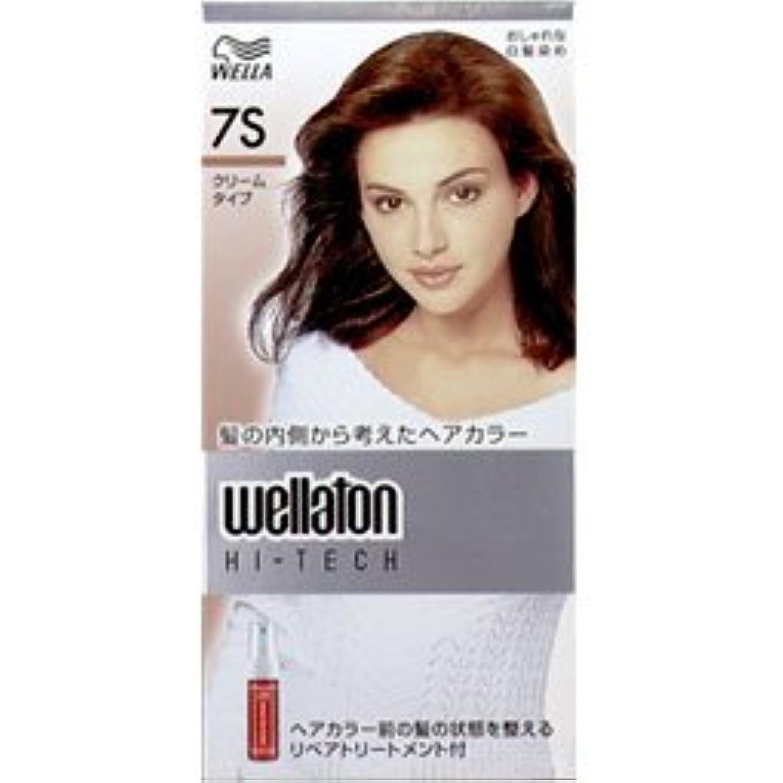 結び目謙虚主婦【ヘアケア】P&G ウエラ ウエラトーン ハイテッククリーム 7S 透明感のある明るい栗色 (医薬部外品) 白髪染めヘアカラー(女性用)×24点セット (4902565140602)