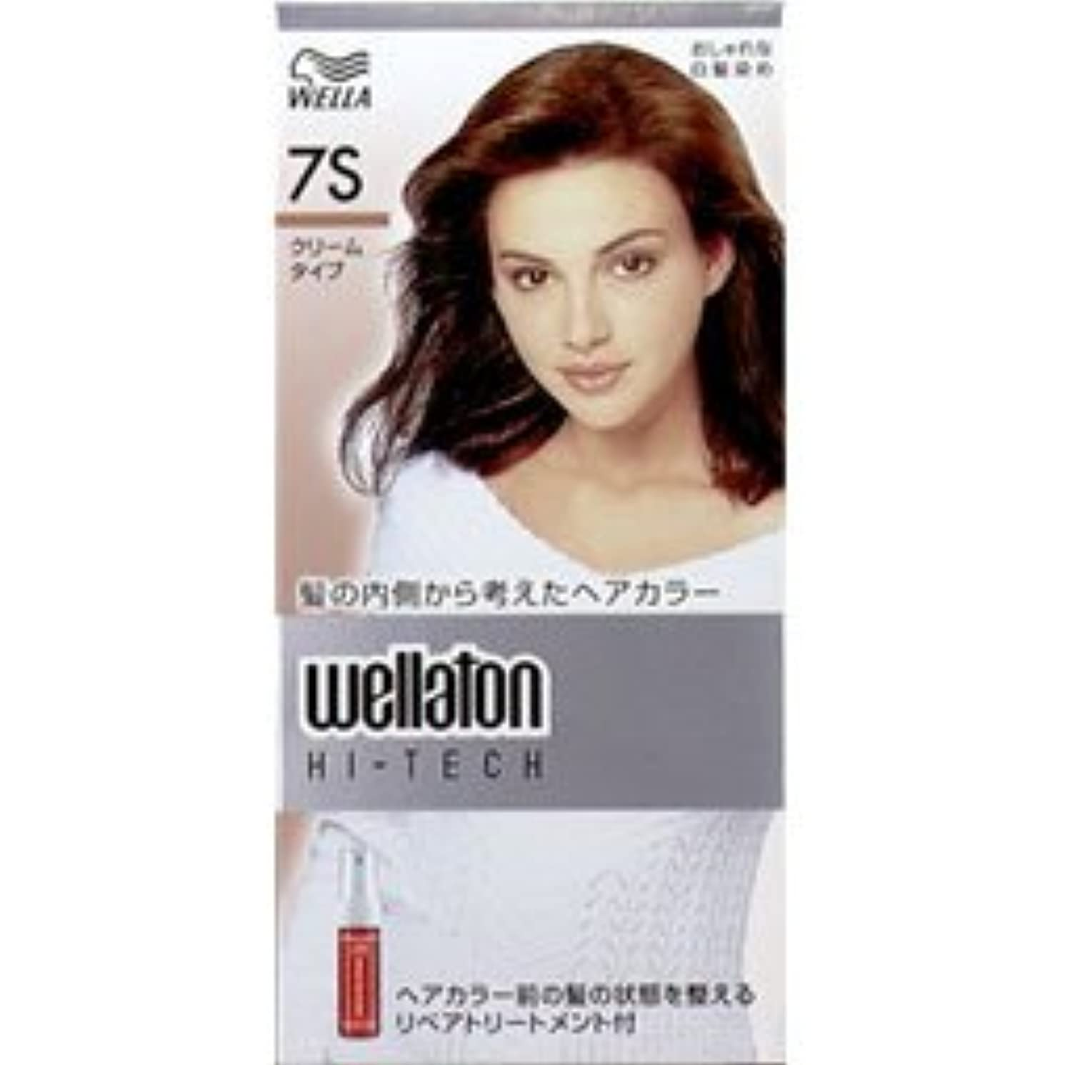冷淡な逮捕伴う【ヘアケア】P&G ウエラ ウエラトーン ハイテッククリーム 7S 透明感のある明るい栗色 (医薬部外品) 白髪染めヘアカラー(女性用)×24点セット (4902565140602)