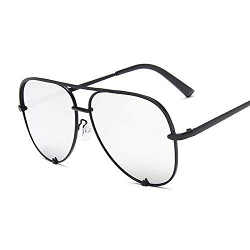 WQZYY&ASDCD Gafas de Sol Gafas De Sol Clásicas Retro para Mujer Gafas De Sol Mujer Moda Retro Negro Degradado-Black_Silver