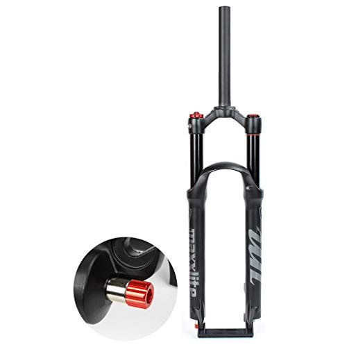 VXXV Super Light Alloy Mountain Bike Suspension Air Front Fork 26' 27.5' 29' MTB 1-1/8 Shock Absorber with Damping Adjustment Travel 120mm (Color : Straight Manual Lockout, Size : 27.5 inch)