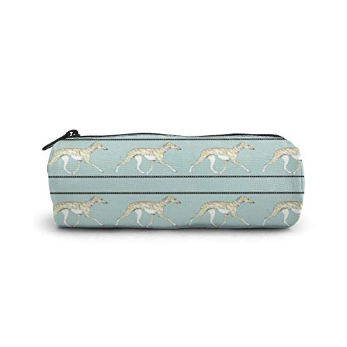 Pencil Case Dog Collar powder Blue Pen Stationery Pouch Bag Cosmetic Makeup Bag Toiletry Bag Cylinder cosmetic bag for Student Office College