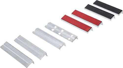 BGS 8442-2 - Set di 8 ganasce di protezione per morsa a vite, in alluminio, 150 mm, con magnete, in alluminio