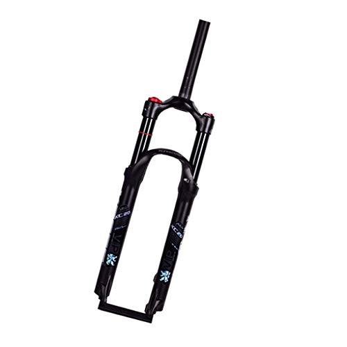 KQBAM Horquilla De Aire De Horquilla para Bicicleta De Montaña, Dirección De Doble Hombro con Tubo Recto, Sistema Neumático De Aleación De Aluminio con Amortiguador De Gas para BIC