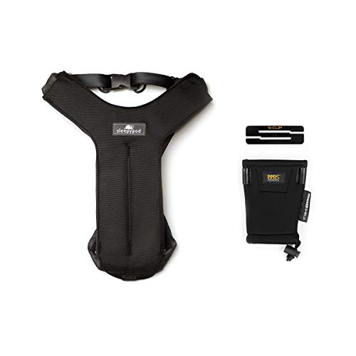 Sleepypod Clickit Sport Bundle Edition - Safest Dog Travel Harness (Large, Jet Black)