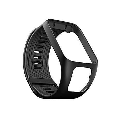 LXF JIAJU Silicona Reemplazo De Pulsera Reloj Correa De Banda para Tomtom Runner 2 3 Spark 3 Sport Watch Tom 2 3 Serie Soft Smart Band (Color : Black)