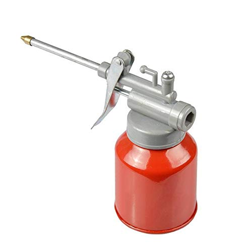 jiansheng Hochdruckmaschine Ölkanne 350ml Plastikschlauch Beständig gegen Kupferspitze Düse Öler Öl Sprühflasche Oil Can mit Lang