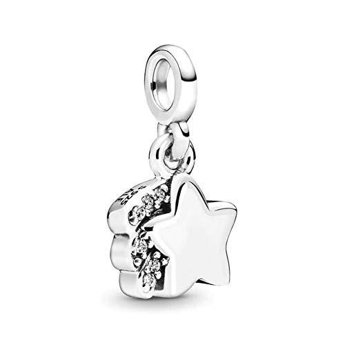 Pandora Meine Sternschnuppe Charm-Anhänger, 798378CZ, Silber, 0,76cm