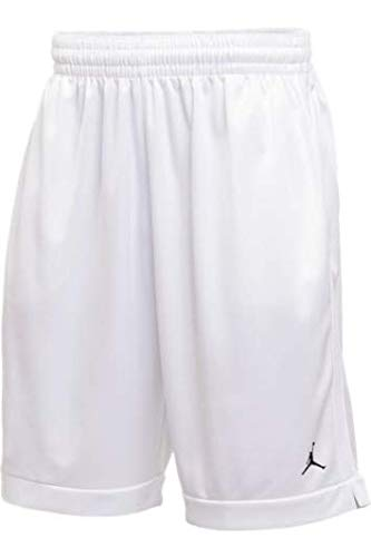 Jordan Team Practice Shorts Mens (White/Black, Large)