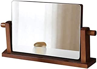 Makeup Mirror Wooden High Definition Folding Mirror Desktop Large Beauty Dresser Mirror Desktop Princess Mirror Portable 360° Rotation