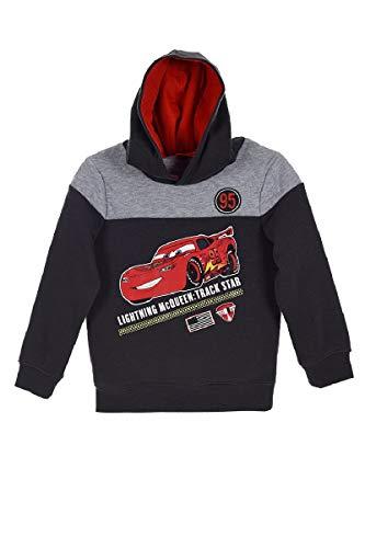 Disney Cars Lightning McQueen (1263) – Kinder Kapuzenpullover Pullover Sweatshirt Hoody, Grau, Größe: 104