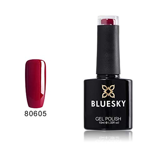 Blue Sky Contradictions Collection 80605 Gel UV LED Soak Off Vernis à ongles, Rouge Rite 10 ml