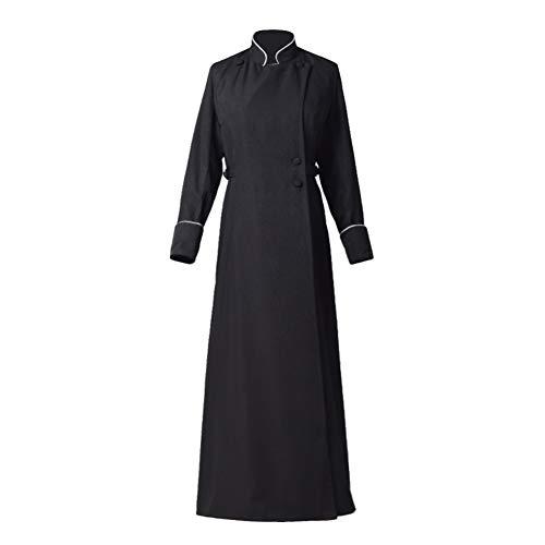 BLESSUME Erwachsene anglikanisch Soutane Klerus Kanzel Soutane Kleid Gewand Kostüm (XXL, Schwarz)