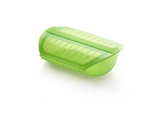 Lékué - Estuche de vapor con bandeja, 3-4 personas, 1400 ml, color verde