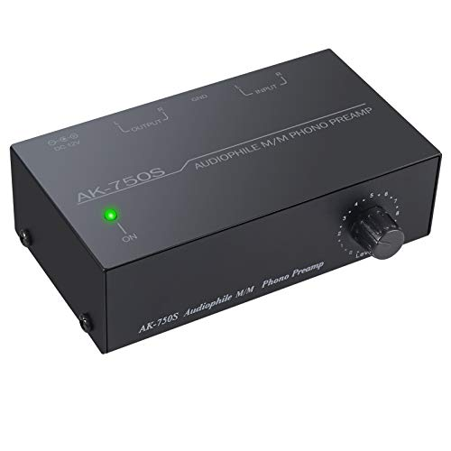 PROZOR Phono Preamplifier Phono Preamp Turntable Preamp with Level Controls...