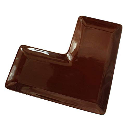 L型チョコレートプレート(洋食器 プレート お皿 大皿 カフェ風 カフェ カフェ食器 業務用 業務用食器 アウトレット 訳あり 多治見美濃焼 日本製)