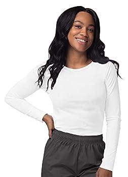SIVVAN Scrubs for Women - Long Sleeve Comfort Underscrub Tee - S8500 - White - XS