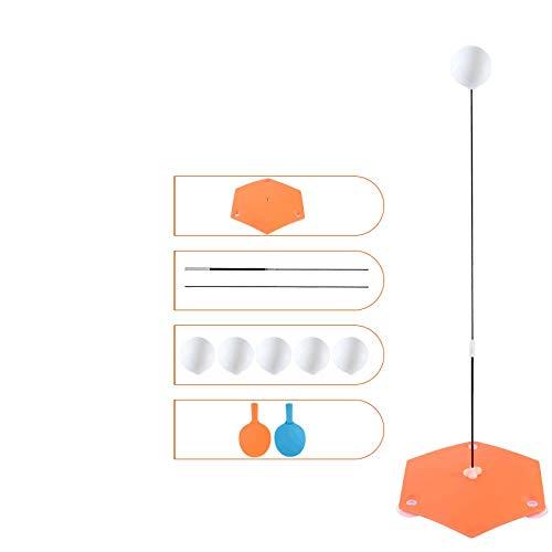 Cue Ping Pong Paddel Tischtennisschläger Training Belüftungsball Fitnessgeräte-Soft Shaft 2 Heels + 5 Bälle