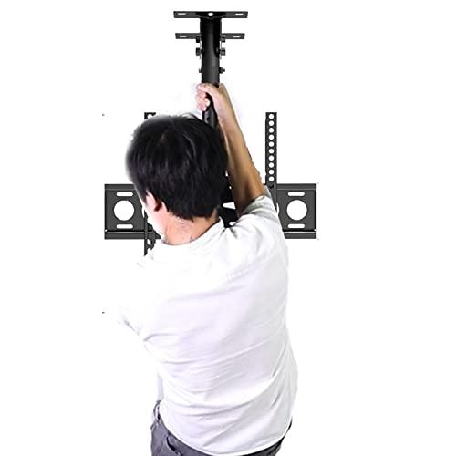soporte tv pared brazo monitor television Ajustable Techo, 26 30 40 50 60' Pantalla plana de monitor de plasma LED LCD Muestra Inclinación / giro de 360°, Interior Industrial Oficina Colegio Hotel, C
