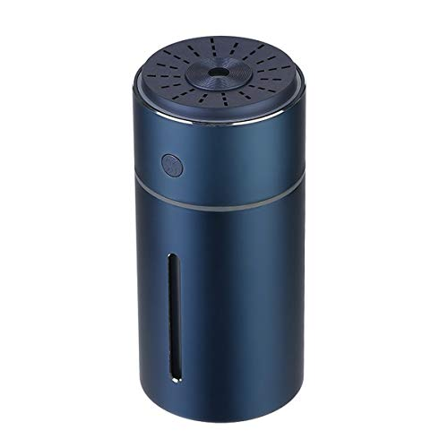 JHSHELF Wireless Humidifier, Essential Oil Diffusers Rotate Aluminum Alloy Air Humidifier Aroma Diffuser Cool Mist Humidifier USB Air Humidifier for Car Travel,Blue