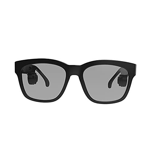 Gafas de conducción ósea, auriculares Bluetooth Los copas de audio llamados gafas de sol, gafas de sol polarizadas, gafas de sol inteligentes de moda que no entran en las orejas, pueden hacer llamadas