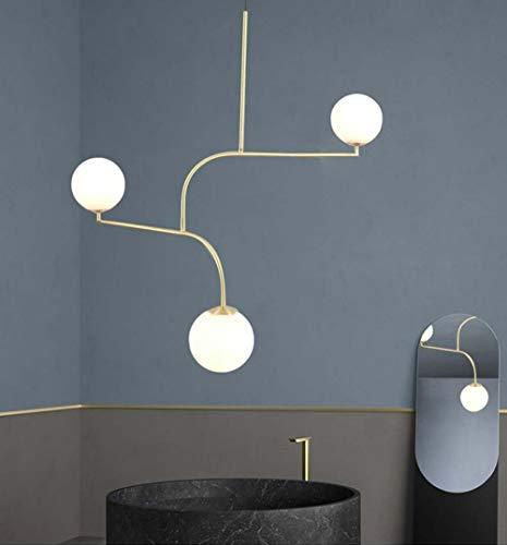 Warm Home Creatieve sprei, modern, minimalistisch, geometrische lijn, messing, smeedijzer, glas, loft, restaurant woonkamer, slaapkamer, magische frijollamp, LED G9-3 x 5 W Agr