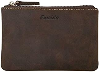 Coin Purse Pouch Fmeida Men's Leather Zipper Change Holder Slim Wallet