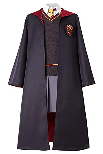 Enhopty Grang Hermione - Disfraz de uniforme escolar universitario, vestido Cosplay, disfraz de Halloween, Carnaval S (Altura 110 – 120 cm)