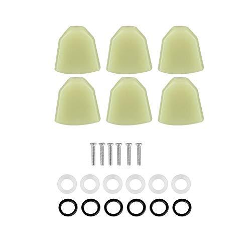 Dilwe gitaar-stemwarvel-knop, 6-delen/set acryl-stemwervel-toetsen mechanische toetsen voor gitaar