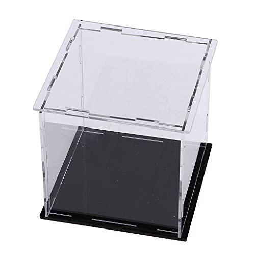 Hellery Cubo a Prueba de Polvo de La Caja de La Vitrina de Acrílico de La Altura de Los 9cm para La Caja del Cubo de La Demostración de La Joyería