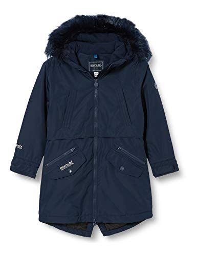 Regatta Unisex Kinder Honoria Waterproof Breathable Taped Seams Insulated Lined Hooded Parka Jacke, Navy, 7-8