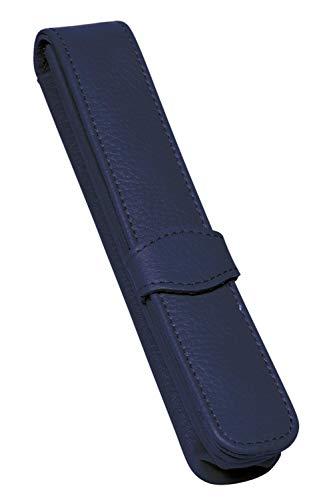 ONLINE Lederetui Blau für einen Stift, Kugelschreiber-Etui, für Schreibgeräte aller Marken, Echtleder, verschiedene Farben, Geschenkidee für jeden Anlass, Maße: (LxBxH) 14,5 x 2,5 x 2,5 cm