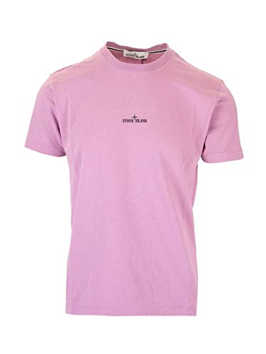 Luxury Fashion | Stone Island Heren 72152NS84V0086 Roze Katoen T-shirts | Lente-zomer 20