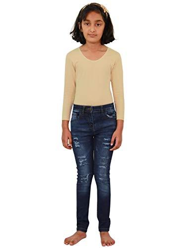 A2Z 4 Kids A2Z 4 Kids Kinder Mädchen Dünn Jeans Designer Denim - Girls Jeans JN28 Dark Blue 3-4