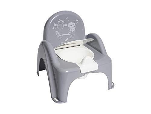 Kindertopf Töpfchen Toilettentrainer Schlaue Eule Das Original von TegaBaby Rutschfest Sicher und TÜVRheinland-geprüft Grau