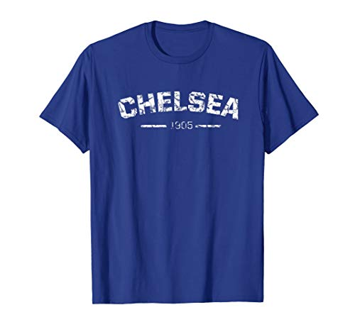 Retro Chelsea Soccer Jersey London Blues Vintage Design T-Shirt