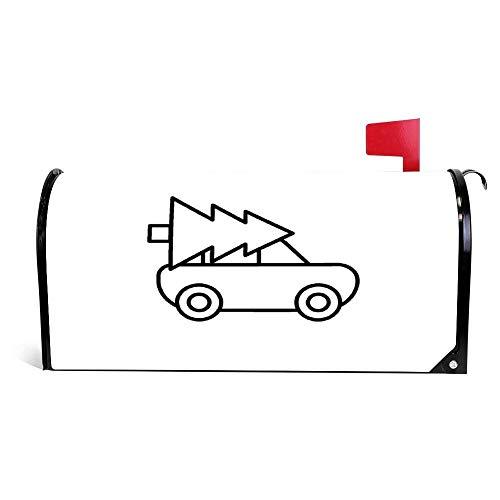 wendana Weihnachtsbaum Auto Take Away Icon, Briefkasten-Abdeckung, magnetisch, Vinyl, für Zuhause, Garten, Dekoration, Briefkasten, Briefkasten, Umschlag 45,7 x 53,3 cm