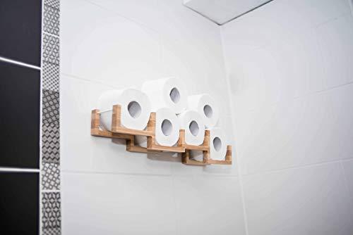 Holz Toilettenpapierhalter Regal Holzhalter für Toilettenpapier-Ziegel (transparent)