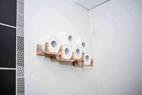 Holz Toilettenpapierhalter Toilettenpapierablage Holzhalter für Toilettenpapier-Bricks