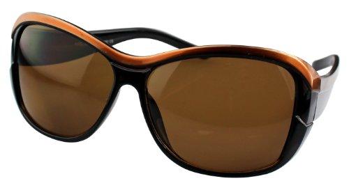Alex Flittner Designs Nerd Sonnenbrille in goldbraun/schwarz