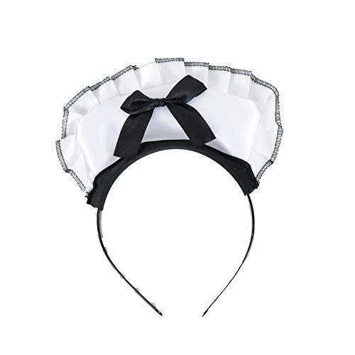 Maid Headband Sexy Victorian Burlesque White & Black