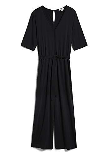 ARMEDANGELS NAILAA - Damen Jumpsuit aus Tencel™ Lyocell Mix XL Black Hose Jumpsuit Regular fit