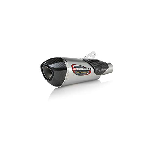 Yoshimura Alpha T Slip-On Exhaust (Street/Stainless Steel/Stainless Steel/Carbon Fiber/Works Finish) for 06-18 Yamaha YZF-R6