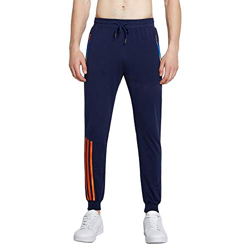VANVENE Mens Jogging Bottoms Broek Tapered Joggers Joggingbroek met Ritszakken