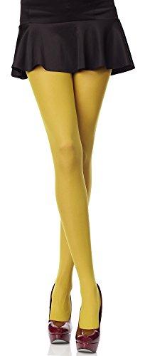 Merry Style Blickdichte Damen Strumpfhose Microfaser 70 DEN (Senffarben, 1/2 (30-36))