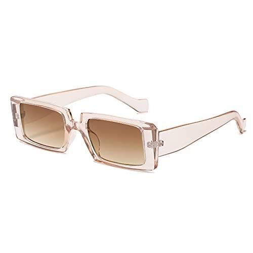 LUOXUEFEI Gafas De Sol Gafas De Sol Rectangulares Para Mujer Gafas Cuadradas Verdes De Verano Para Mujer