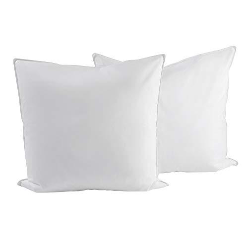 RIBECO Kopfkissen, preiswerte 2-er Sets, Baumwollbezug, Füllung: 100%, 90% oder 80% Federn
