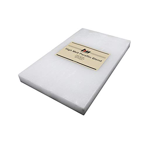 Blended Waxes, Inc. Paraffin Wax 10 lb. Block - 160F Melt Point Bulk Paraffin Wax - Use for DIY Projects, Candle Making, Additive and More