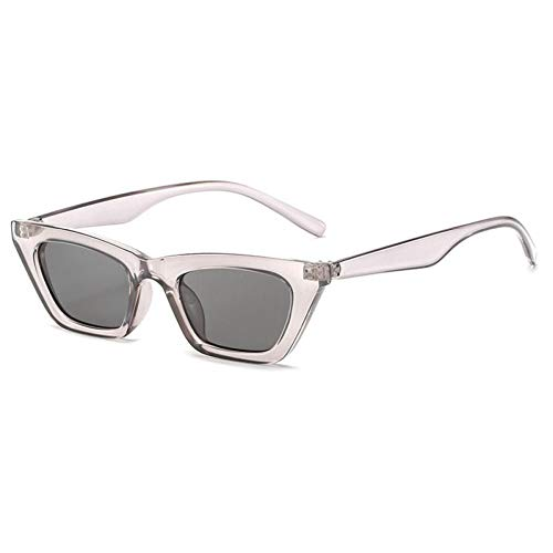 ZZOW Gafas De Sol Vintage De Ojo De Gato para Mujer, Diseñador De Marca, Té Gris, Espejo Plateado, Gafas De Sol De Moda para Mujer, Gafas De Sol para Hombre, Gafas Uv400