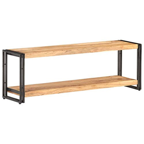 Tidyard Holz-TV-Schrank TV-Regal Lowboard TV Möbel Tisch Board aus massivem Akazienholz,Sideboard Fernsehtisch Fernsehschrank HiFi-Schrank 120x30x40cm